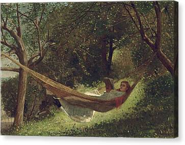 Girl In The Hammock Canvas Print by Celestial Images