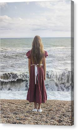Girl On Beach Canvas Print by Joana Kruse