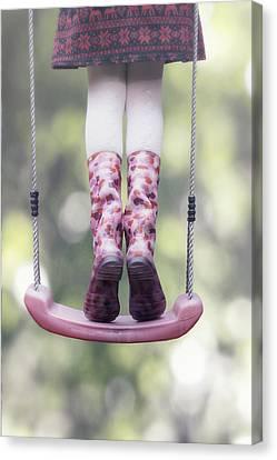 Girl Swinging Canvas Print by Joana Kruse