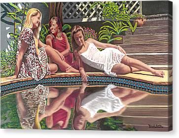 Girl Talk Canvas Print by David Linton