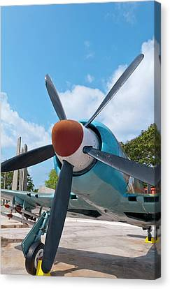 Giron, Cuba, At Bay Of Pigs Museum Canvas Print by Bill Bachmann