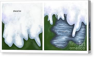 Glacial Melt Canvas Print by Gwen Shockey