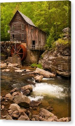 Glade Creek Grist Mill Canvas Print by Michael Blanchette