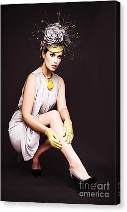 Debutante Canvas Print - Glamorous Woman In Racecourse Fashion by Jorgo Photography - Wall Art Gallery