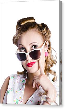 Glamorous Woman In Sunglasses Canvas Print by Jorgo Photography - Wall Art Gallery