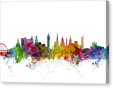 Scotland Canvas Print - Glasgow Scotland Skyline by Michael Tompsett