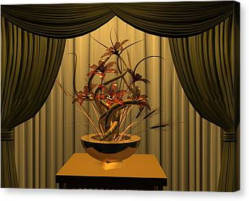 Glass Flowers Canvas Print by Louis Ferreira