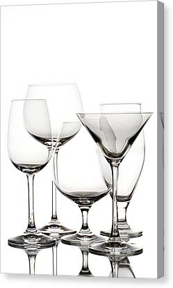 Glassware Canvas Print by Alexey Stiop