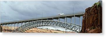 Glen Canyon Dam Bridge Canvas Print by Jim West