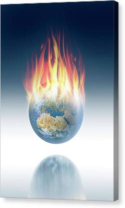 Global Warming Canvas Print by Detlev Van Ravenswaay