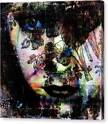 Gloria Swanson Canvas Print by Penelope Stephensen