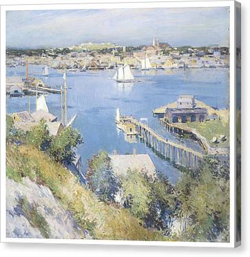 Gloucester Harbor Canvas Print by Willard Leroy Metcalf
