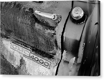 Gmc 4000 V6 Pickup Truck Side Emblem - Door Handle Canvas Print by Jill Reger