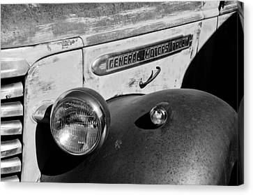 Gmc Truck Side Emblem Canvas Print by Jill Reger