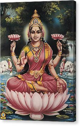 Goddess Srhi Sentamarai Laximi, Wife Canvas Print