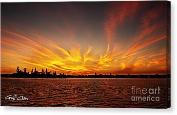 Gold Fingers- Sunrise Golden. Canvas Print by Geoff Childs