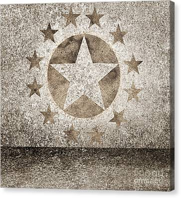 Gold Star Hollywood Event Background. Walk Of Fame Canvas Print