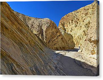 Canvas Print featuring the photograph Golden Canyon - Death Valley by Dana Sohr