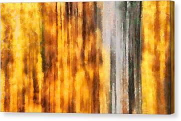 Golden Days Of Autumn Canvas Print by Dan Sproul