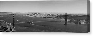 Golden Gate Bridge Panorama Canvas Print by Twenty Two North Photography
