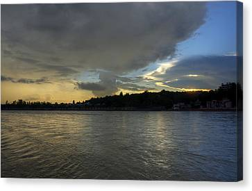 Ganges Canvas Print - Golden Hour - Rishikesh by Rohit Chawla