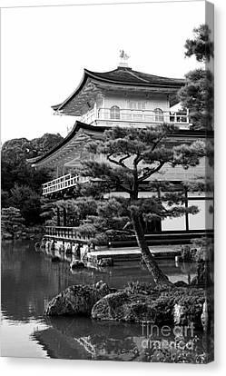Golden Pagoda In Kyoto Japan Canvas Print by David Smith