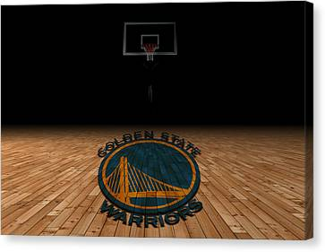 Benches Canvas Print - Golden State Warriors by Joe Hamilton