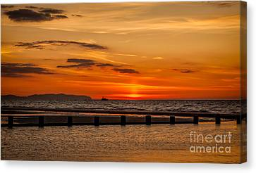 Golden Sunset Canvas Print by Adrian Evans