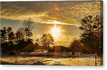 Canvas Print featuring the photograph Golden Sunset by Brenda Bostic