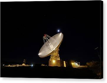 Goldstone Observatory At Night Canvas Print by Nasa/jpl-caltech