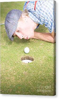 Golf Cheating Canvas Print by Jorgo Photography - Wall Art Gallery