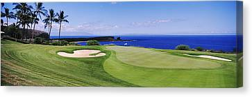Non People Canvas Print - Golf Course At The Oceanside, The by Panoramic Images