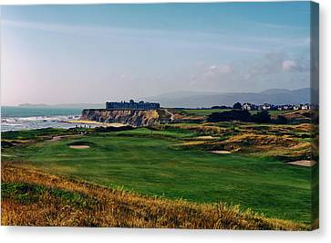 Golf Course On Half Moon Bay Canvas Print by Mountain Dreams