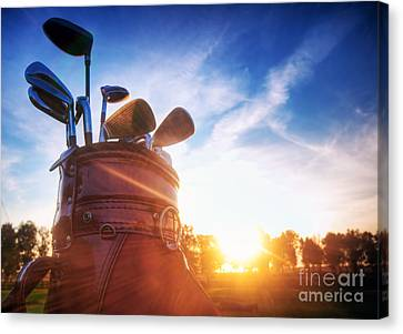 Golf Gear Canvas Print by Michal Bednarek