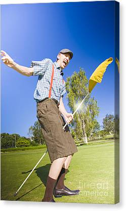 Golf Victory Dance Canvas Print by Jorgo Photography - Wall Art Gallery