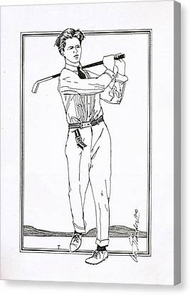 Golfer 1915 Canvas Print by Ira Shander