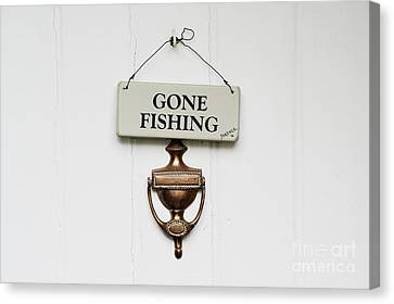 Gone Fishing Forever Canvas Print by Tim Gainey