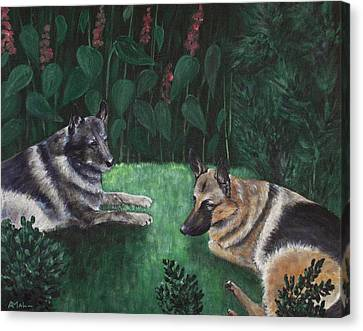 Good Friends Canvas Print by Anastasiya Malakhova