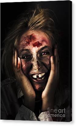 Good Mourning. Face Of A Zombie Apocalypse Canvas Print by Jorgo Photography - Wall Art Gallery