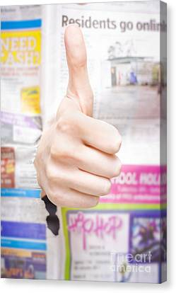 Good News Or Thumbs Up Review Canvas Print by Jorgo Photography - Wall Art Gallery