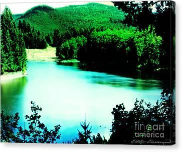 Gorge Waterway Victoria British Columbia Canvas Print by Eddie Eastwood