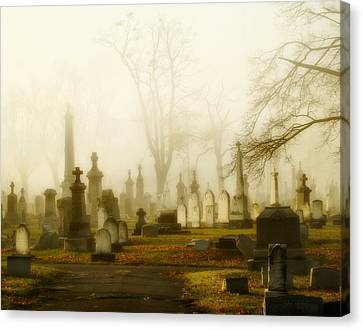 Gothic Autumn Morning Canvas Print