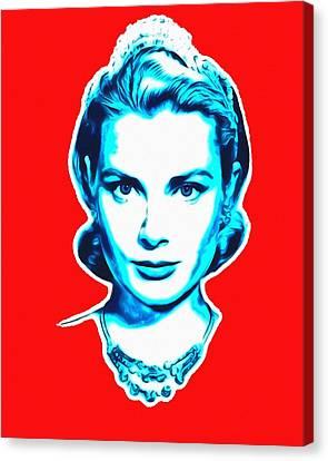 Grace Kelly Canvas Print by Art Cinema Gallery