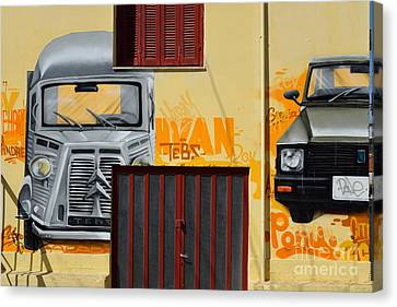 Graffiti Canvas Print - Graffiti On A Wall by George Atsametakis