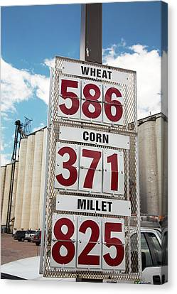 Grain Prices Canvas Print by Jim West
