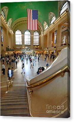 On The Move Canvas Print - Grand Central Station New York City by Amy Cicconi