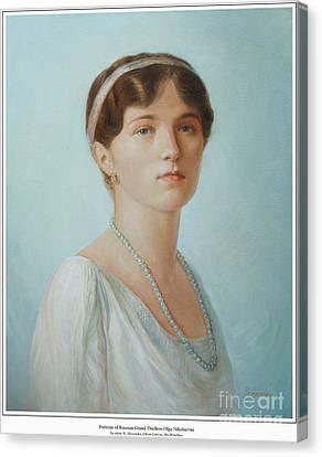 Grand Duchess Olga Nikolaevna Of Russia Canvas Print by George Alexander