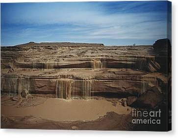 Grand Falls Of The Little Colorado Canvas Print by Mark Newman