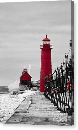 Grand Haven Lighthouse Canvas Print by Todd Bielby