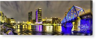 Grand Rapids Panorama Canvas Print by Twenty Two North Photography